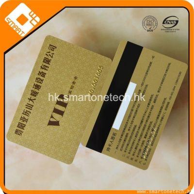 CR80 PVC 银行卡大小金卡磁条卡