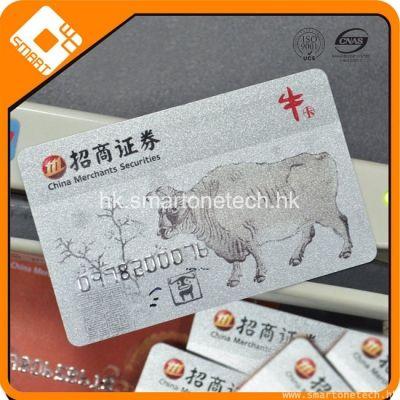 CR80 PVC 银行卡大小打银底低亢磁条卡