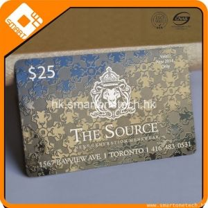 PVC 0.5MM厚度满版UV效果黑色条码卡会员折扣卡