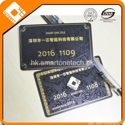 PVC卡制作厂家 拉丝金拉丝银名片卡